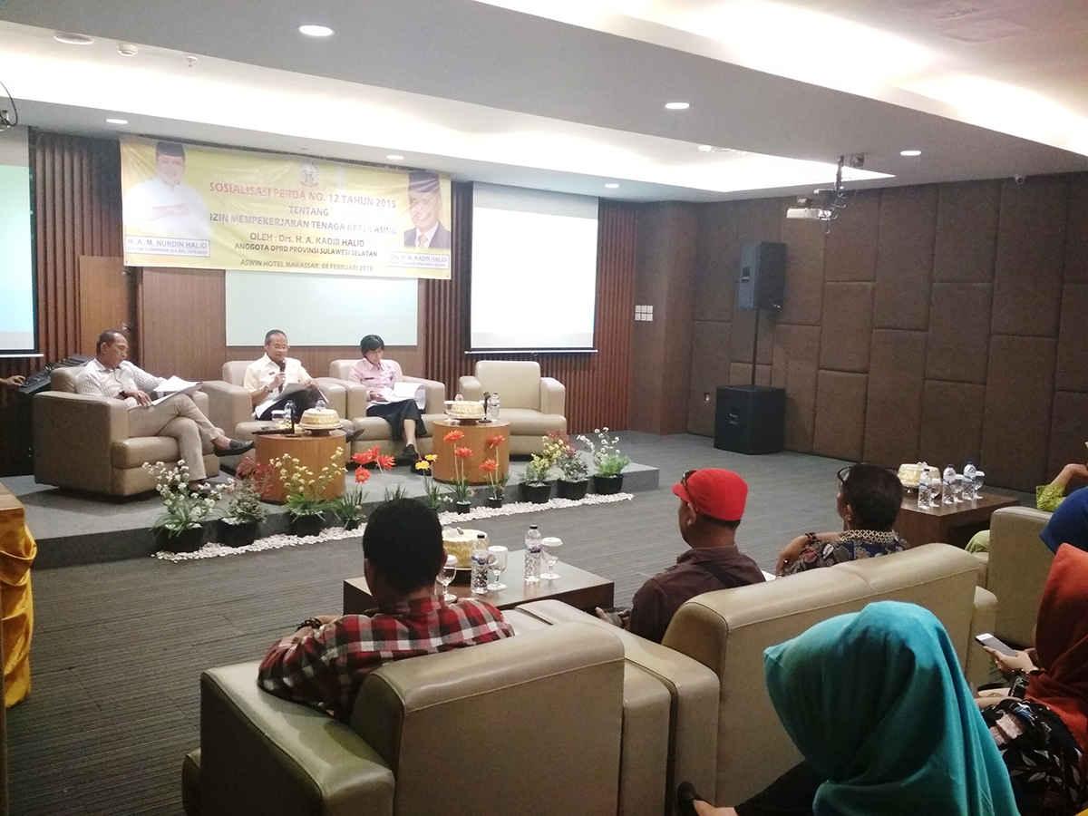 Sosialisasi Perda No. 12 Tahun 2015 oleh anggota DPRD Prov. Sulsel Bapak Drs. Kadir Halid
