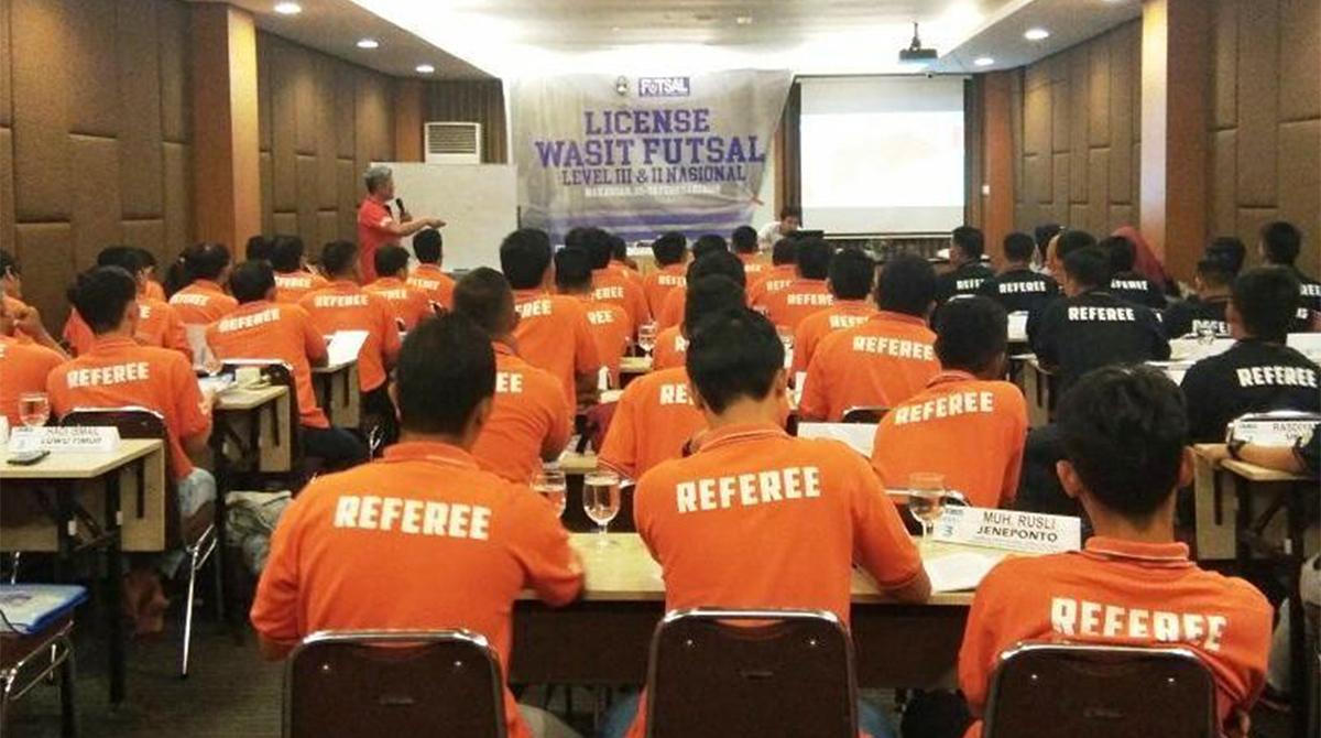 License Wasit Futsal Level III & II Nasional