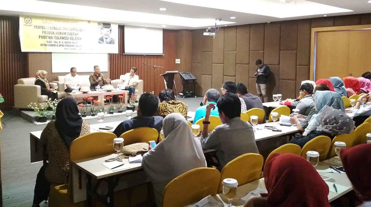 Penyebarluasan & Sosialisasi Produk Hukum Daerah Prov. Sulawesi Selatan